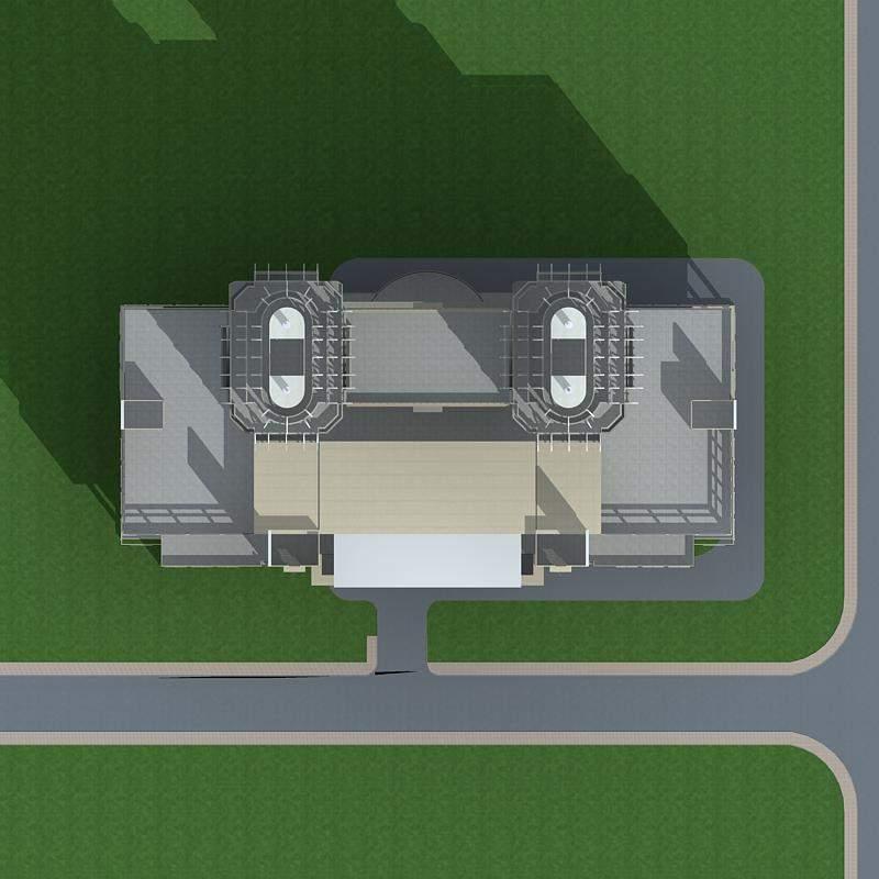 欧式高层双塔式办公楼