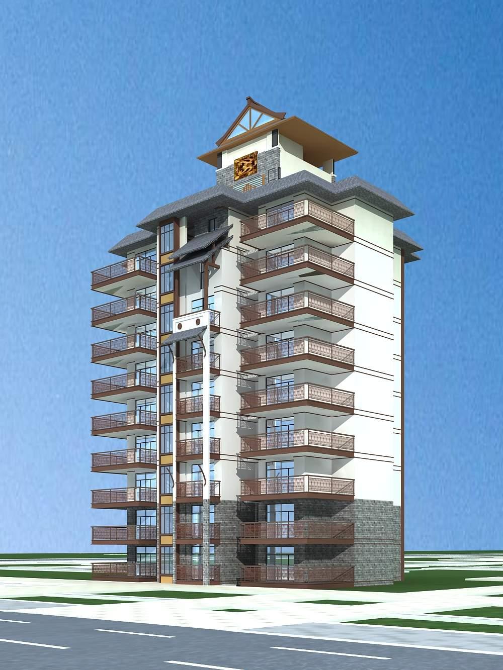 中式高层公寓