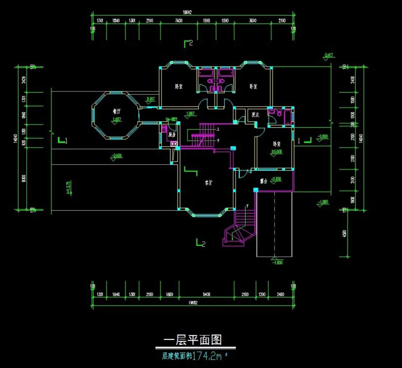 龙湖香樟林别墅A型(平立剖全)