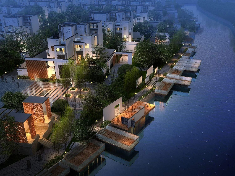 现代中式别墅群