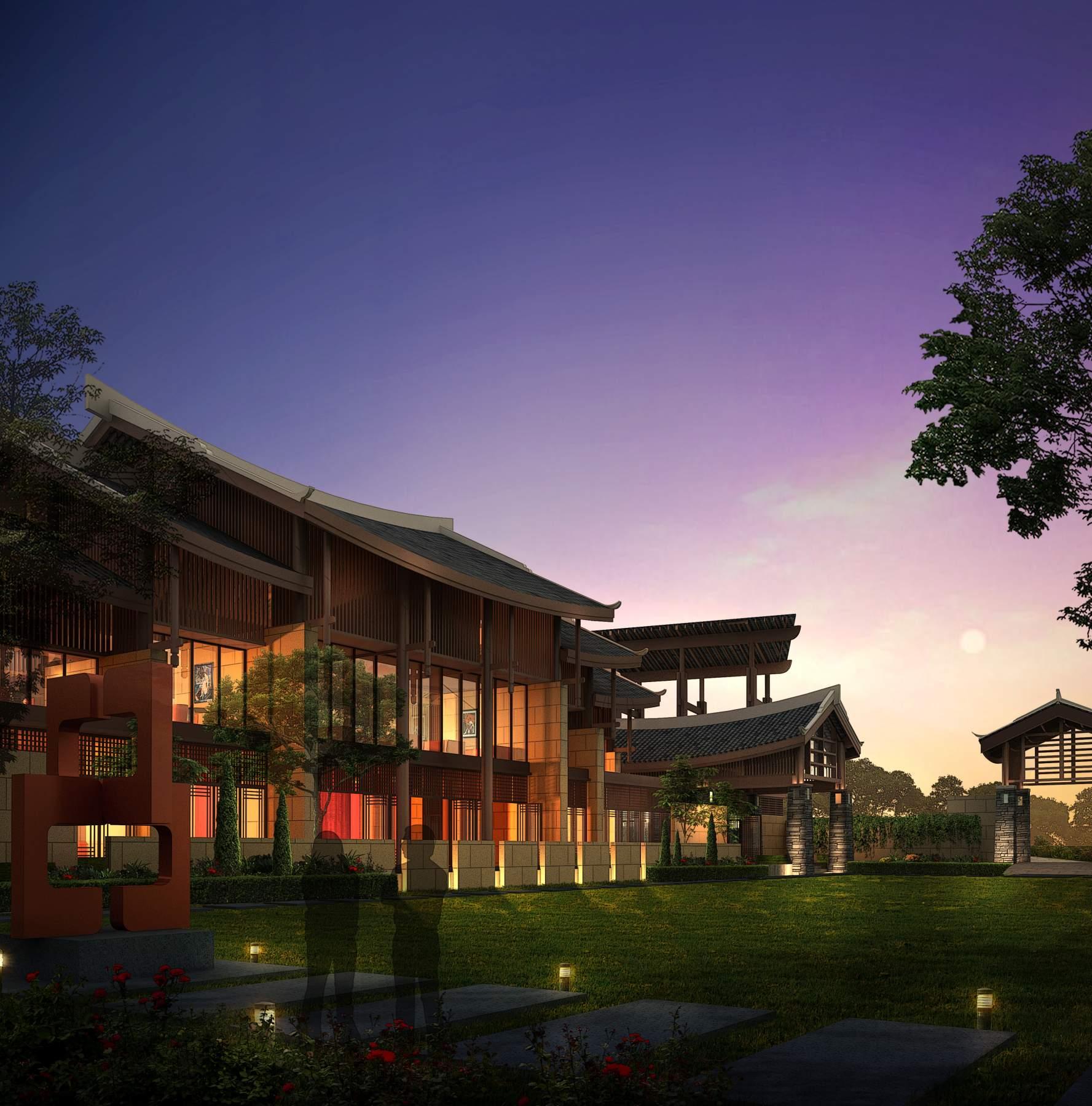 东南亚风格别墅及商业楼