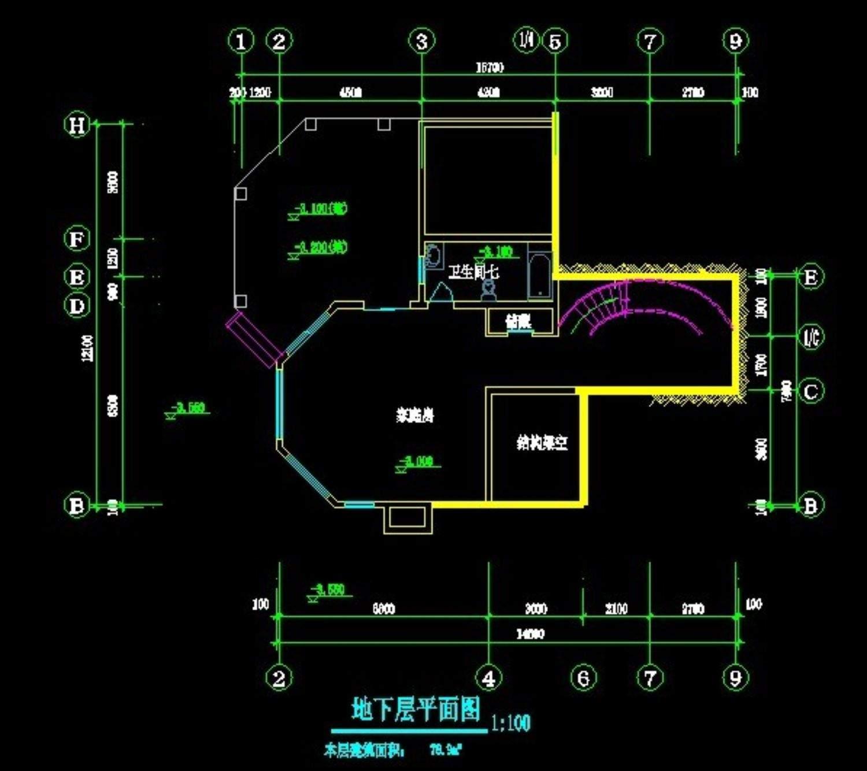 重庆保利花园6号别墅平立剖全