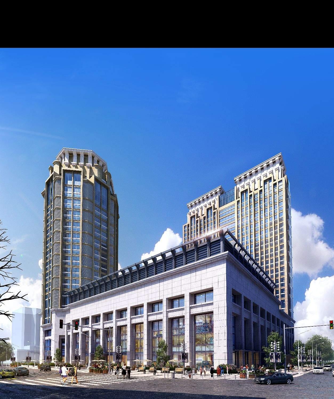 现代商业办公楼