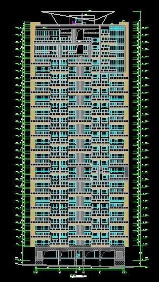 兰溪谷A型高层住宅平立剖全