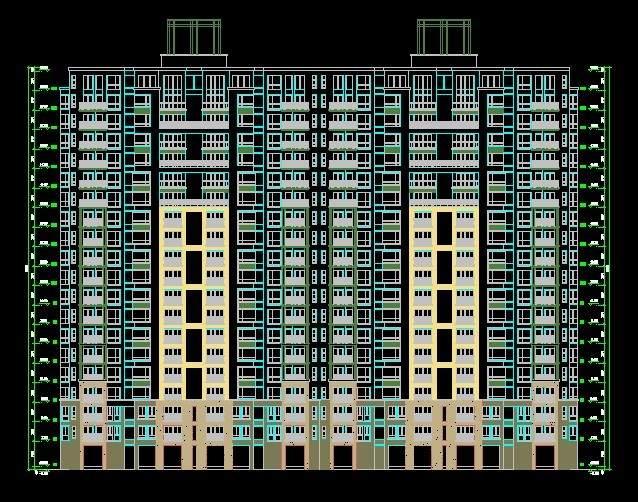 南京金基河西高层住宅1栋平立剖全