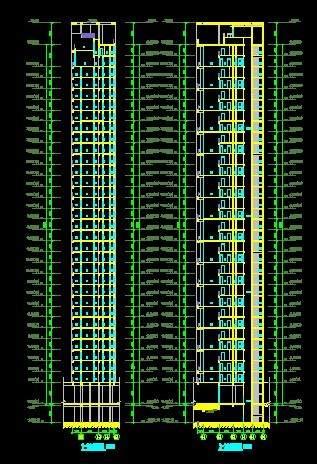 洛阳世纪华阳5栋高层住宅平立剖全