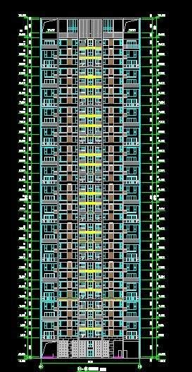 洛阳世纪华阳8栋高层住宅平立剖全