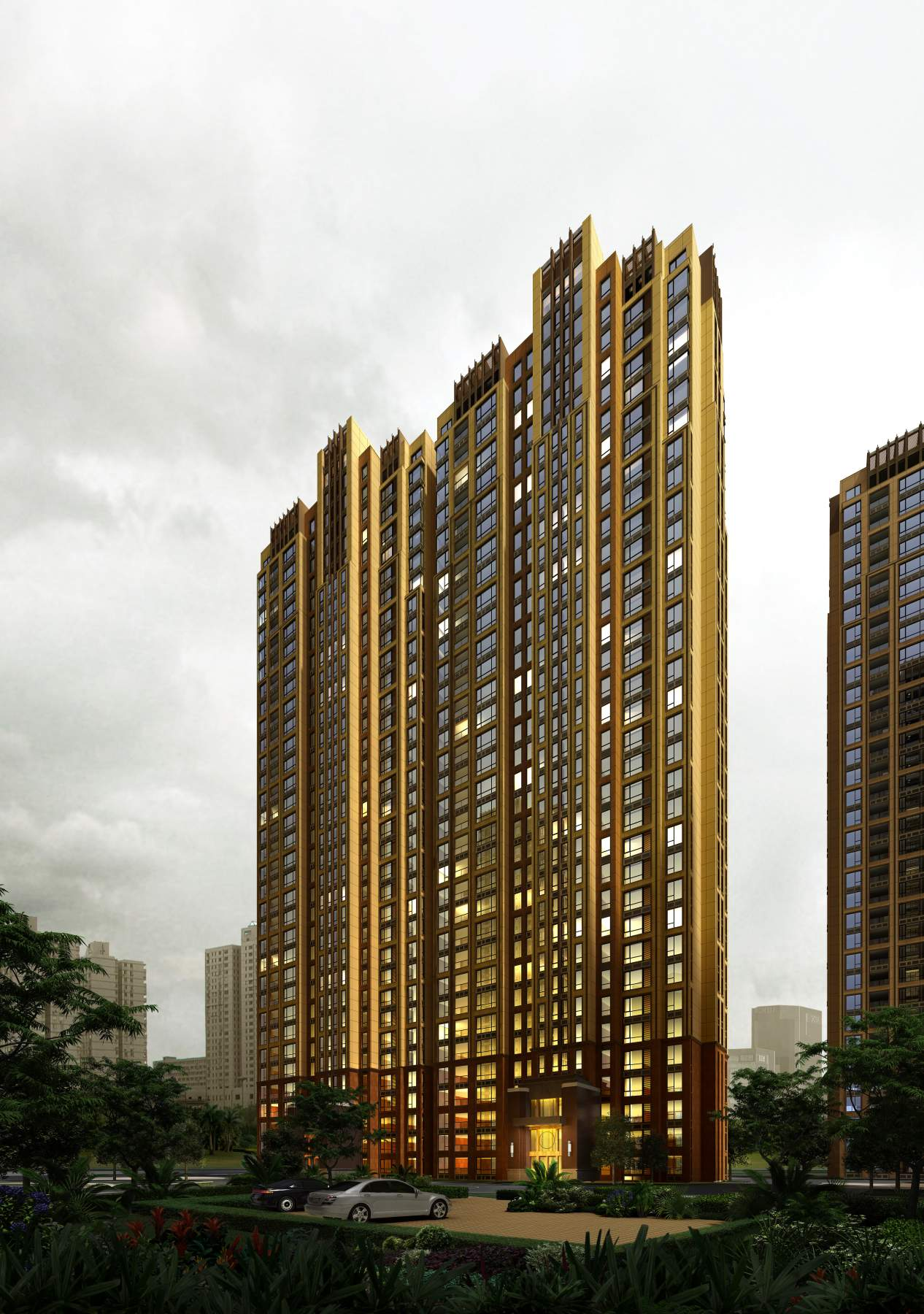 简欧风格高层住宅公寓