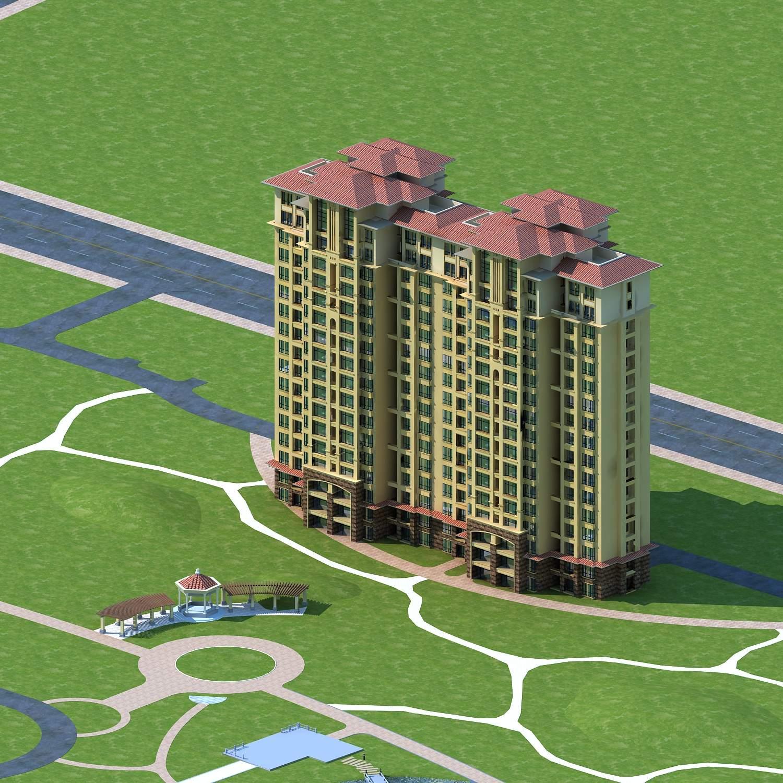 小区景观及高层住宅公寓