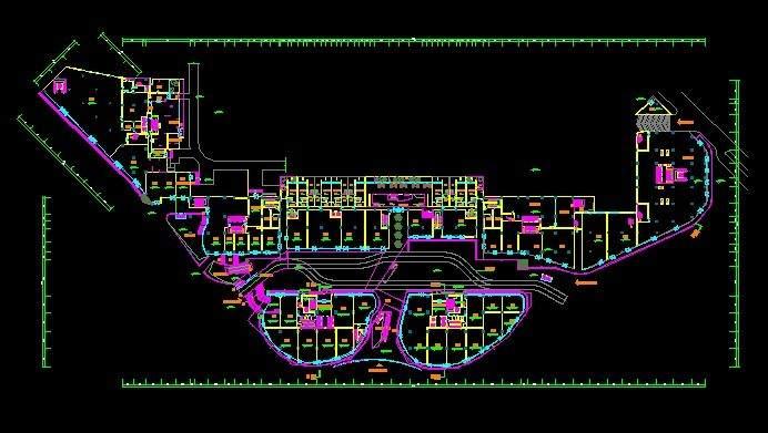 财信城市广场3号楼平立剖面图