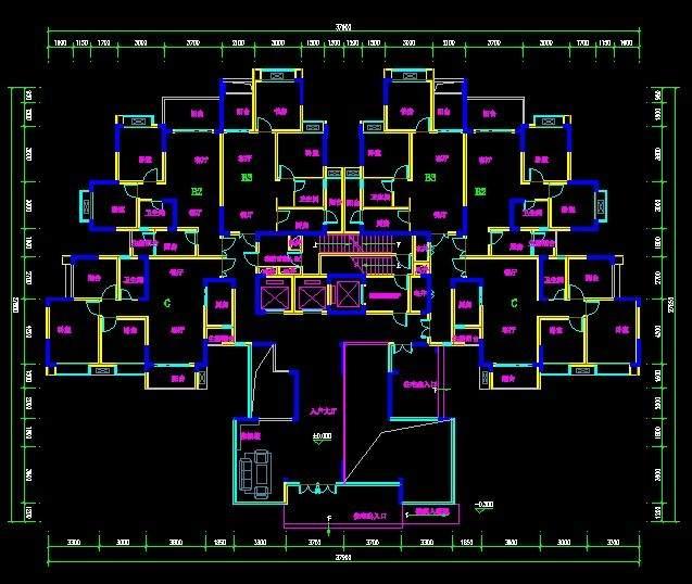 现代高层住宅2-4号楼