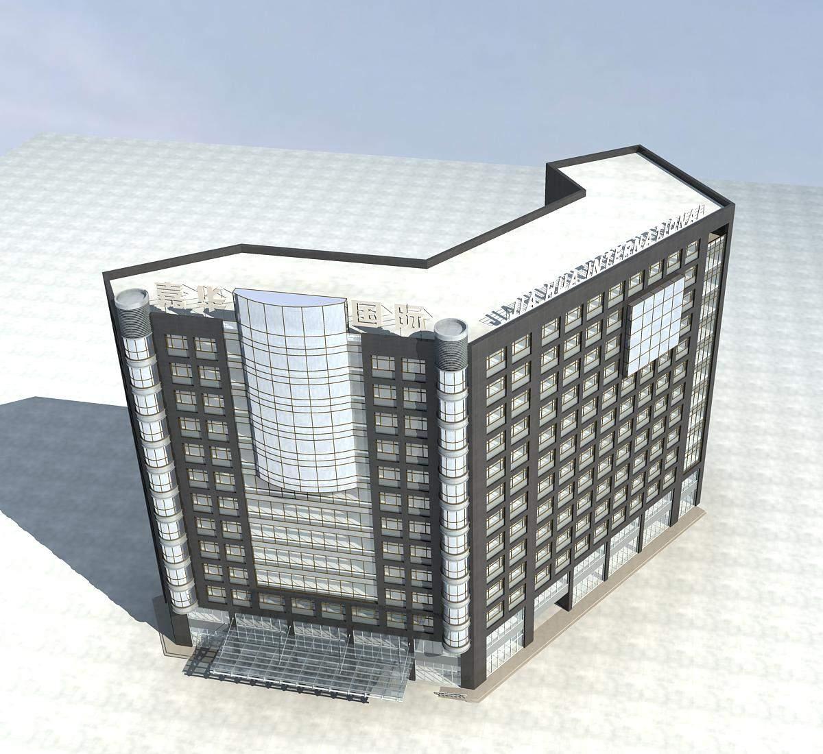 现代高层综合大楼