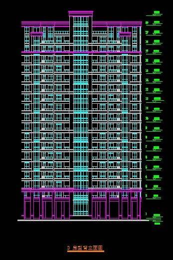 金山名都D型小高层住宅平立剖全