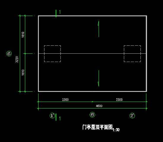 中式仿古二号大门