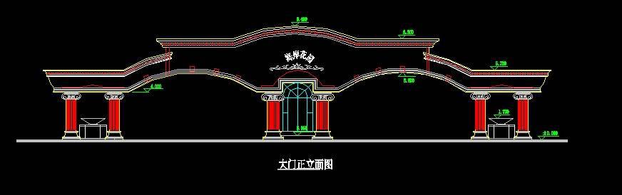 中式仿古大门