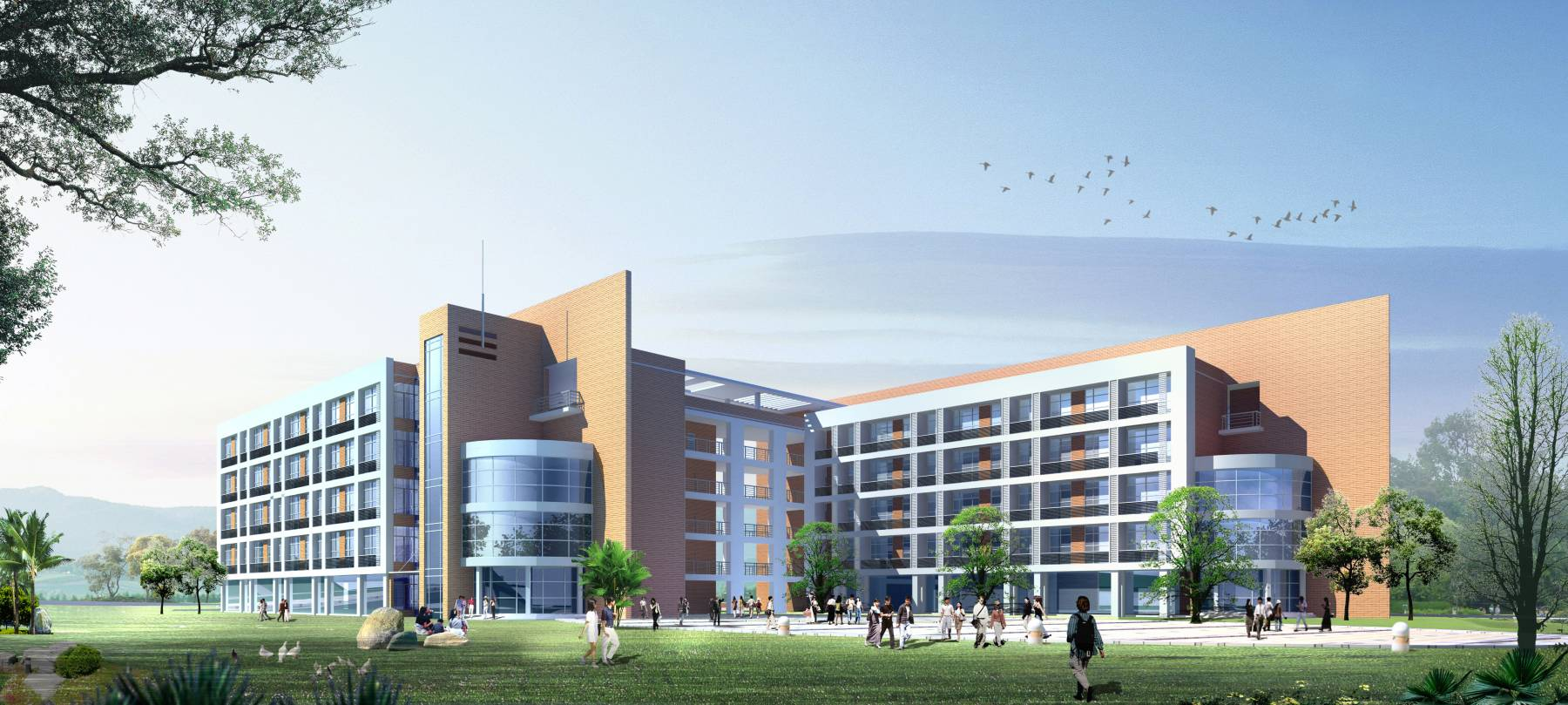 3dmax异形建筑_现代科技学校3dmax 模型下载-光辉城市