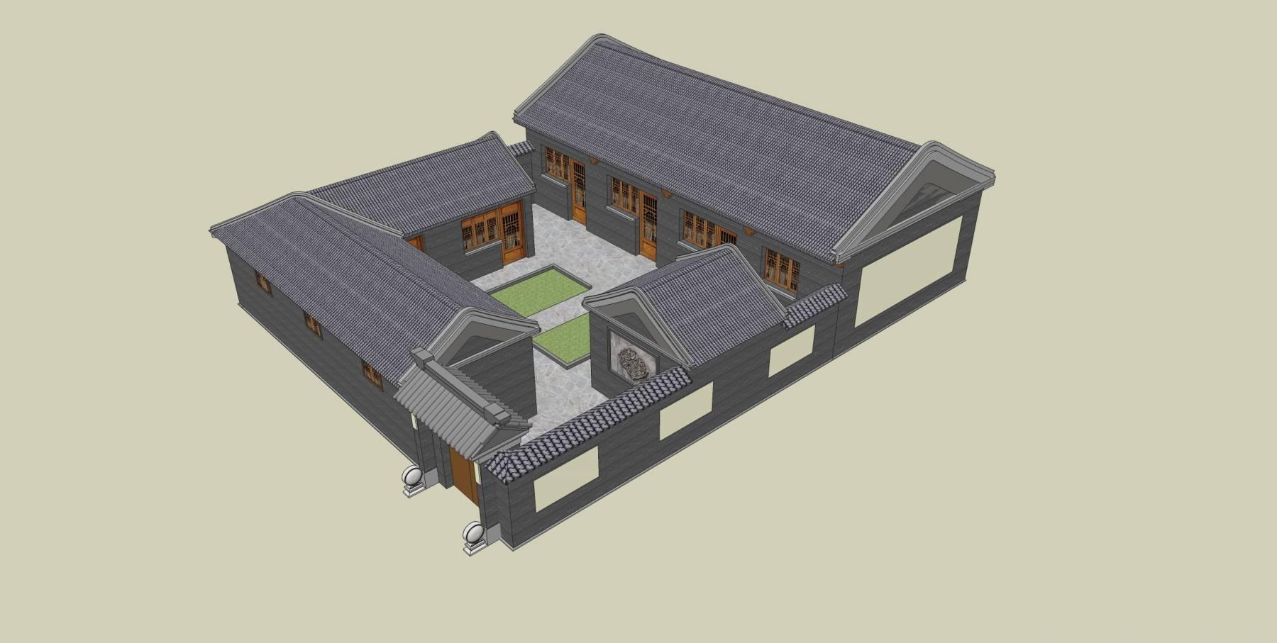 中式四合院住宅楼