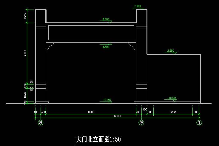 中式仿古大门5