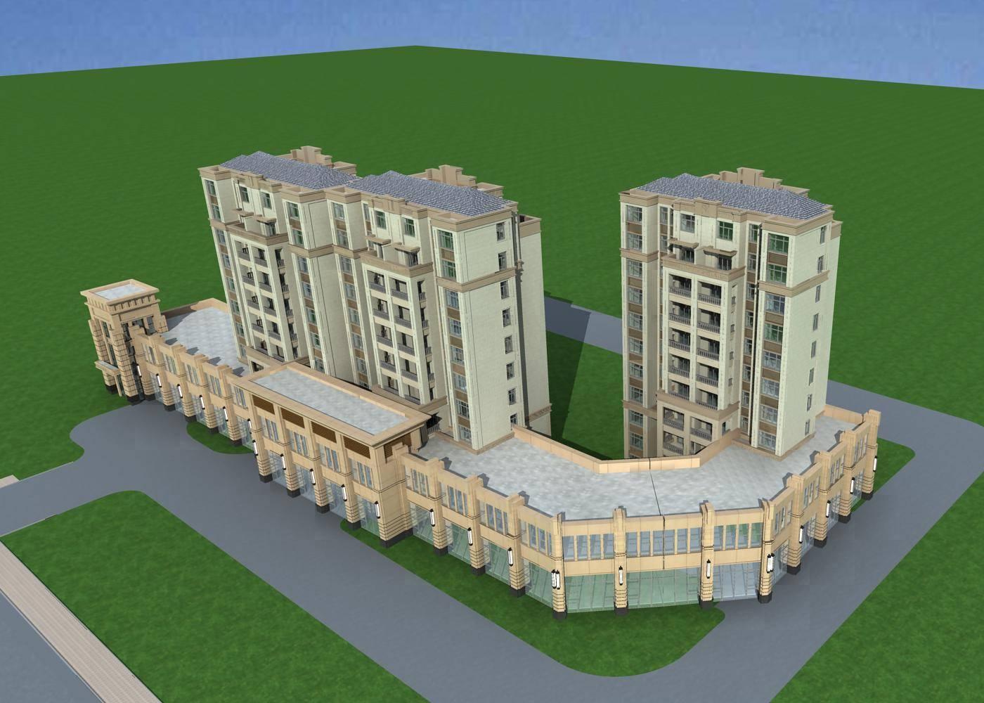 欧式住宅公寓及商业裙房