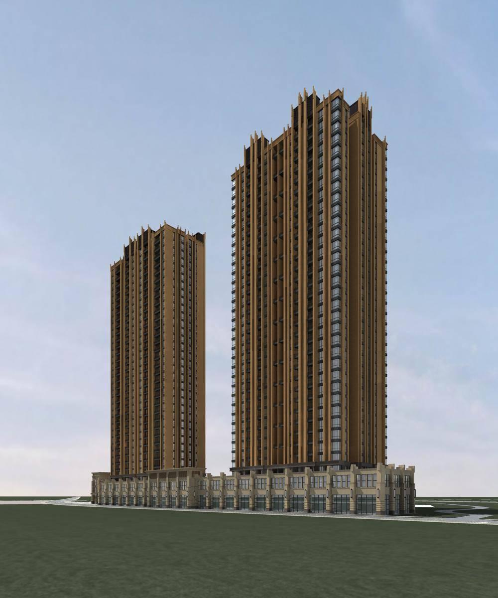 欧式商业住宅公寓