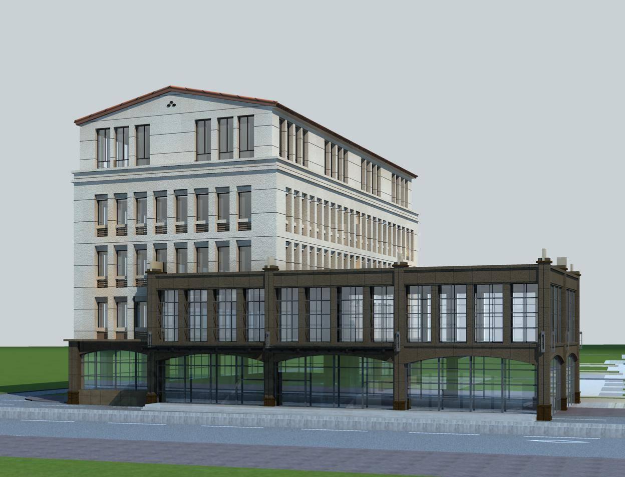 欧式商业多层住宅楼