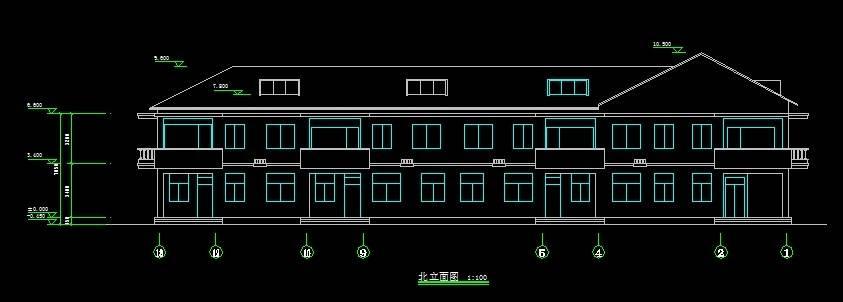 上海大众联排别墅平立剖全