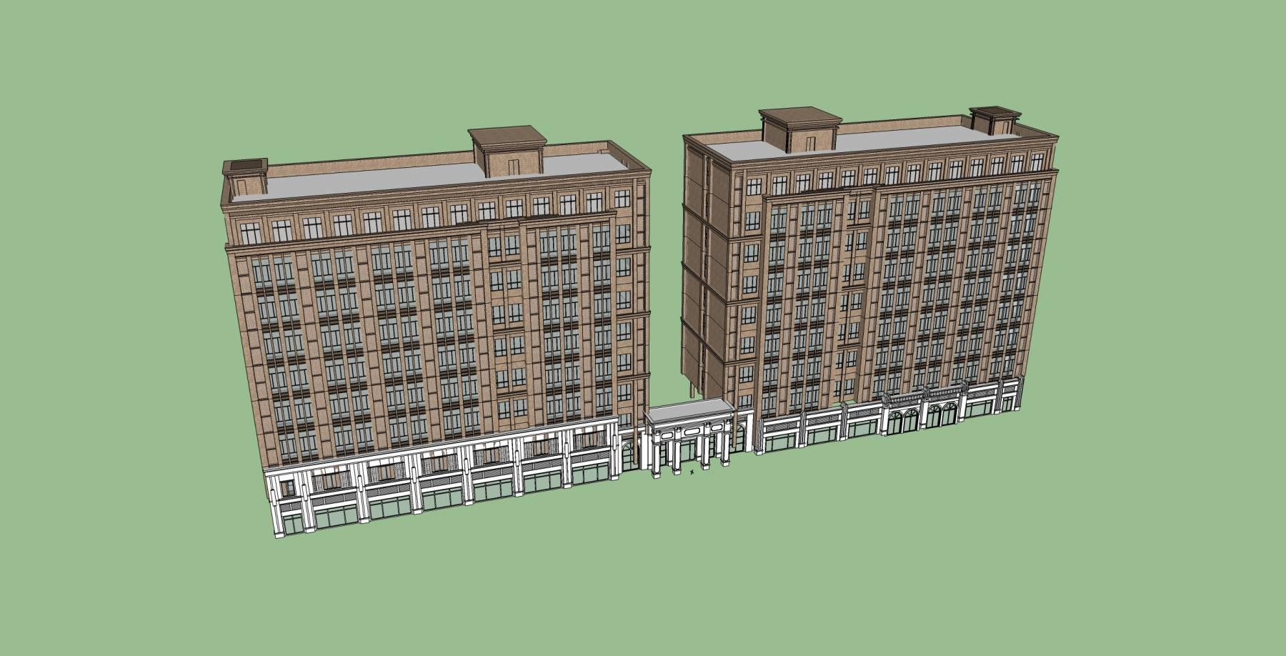 欧式高层商业住宅公寓