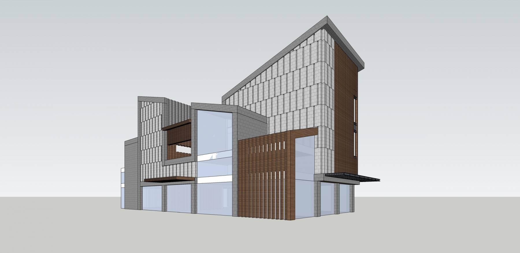现代小商业楼