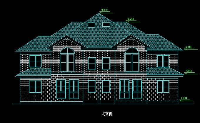 北美风格14号双拼别墅