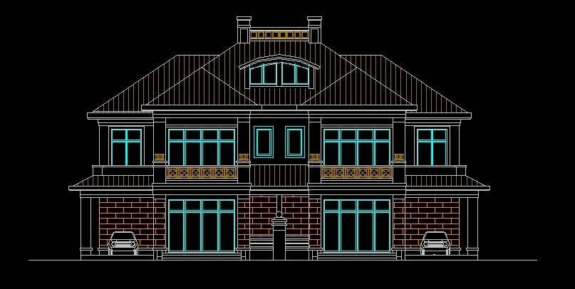 北美风格28号双拼别墅
