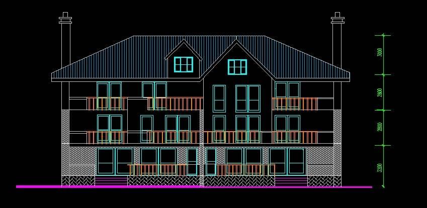 北美风格18号双拼别墅