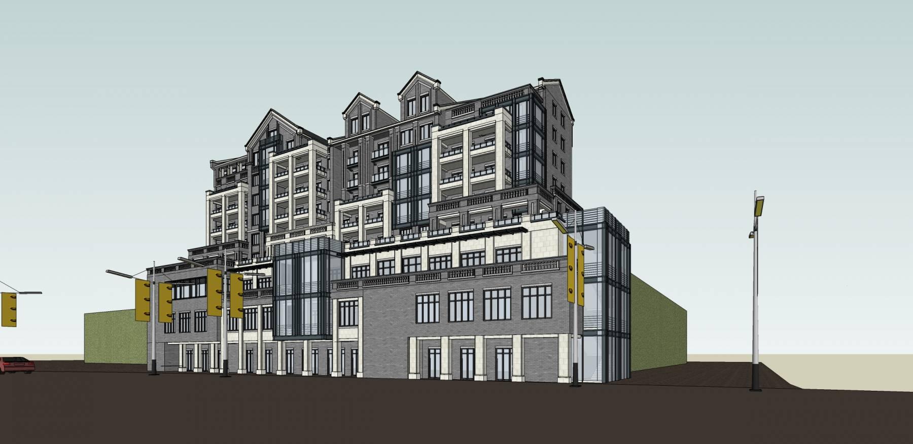 新中式商业住宅楼