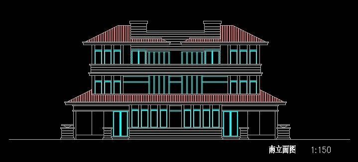 北美风格D2型双拼别墅