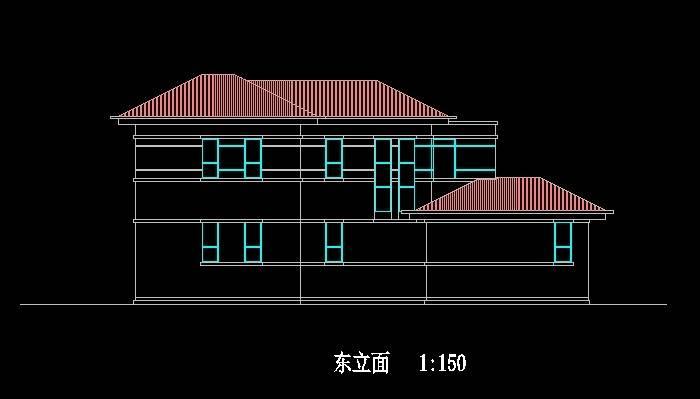北美风格D3型双拼别墅