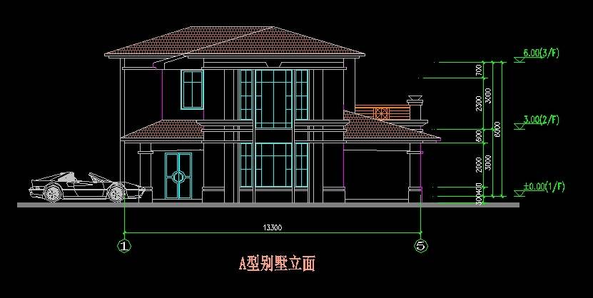 北美风格A1型别墅