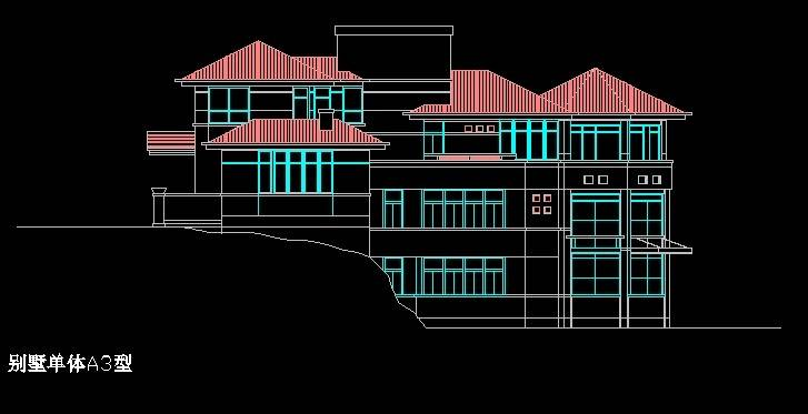 北美风格A3型别墅