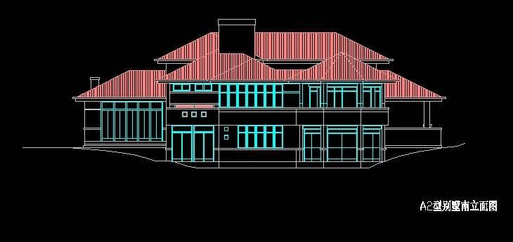 北美风格A2型别墅