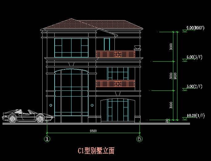 北美风格C1型别墅