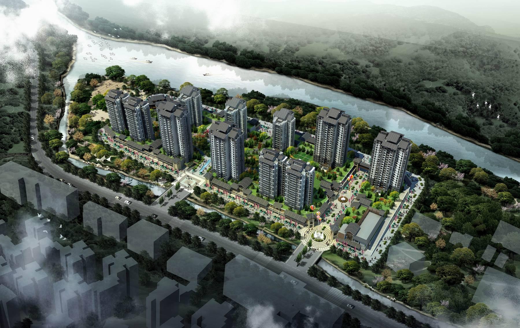 中式商业住宅小区