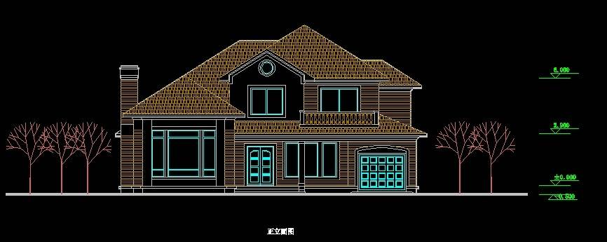 北美风格A5型别墅