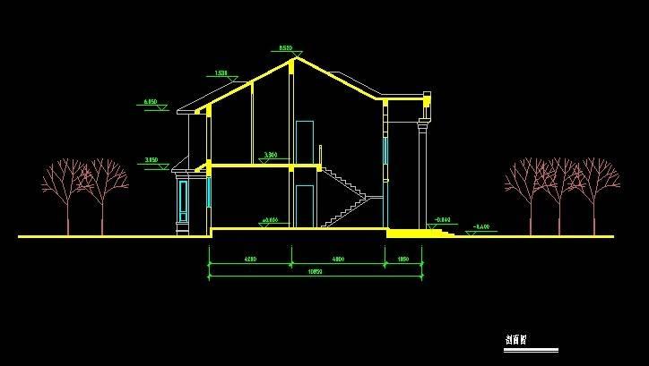 北美风格A6型别墅