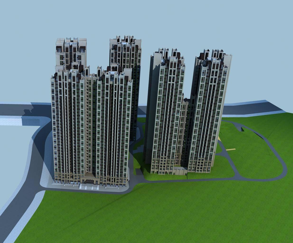 欧式商业高层住宅楼