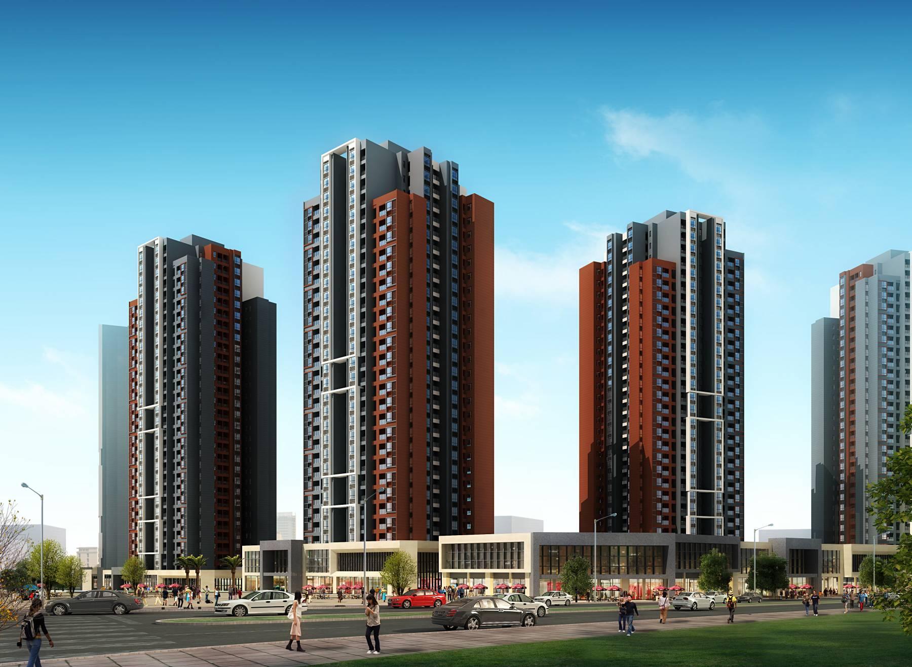 现代商业住宅小区