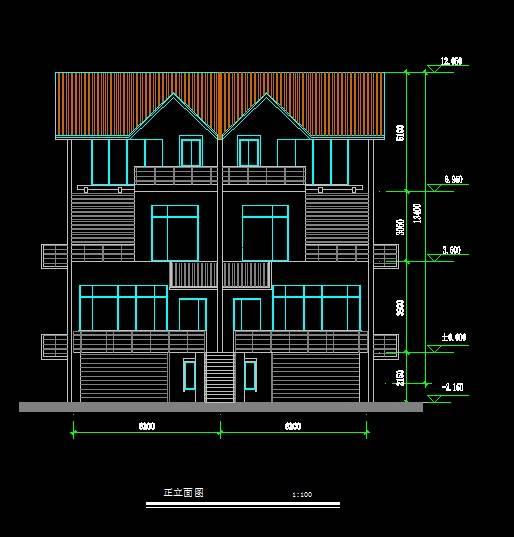 北美风格双拼别墅3