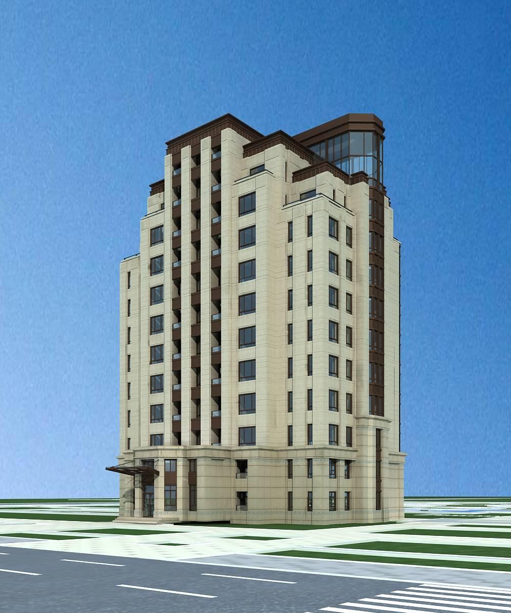 新古典风格高层住宅公寓