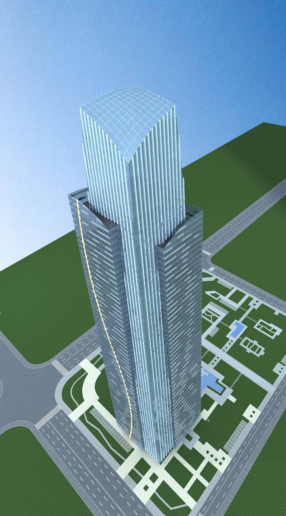现代超高层办公大楼