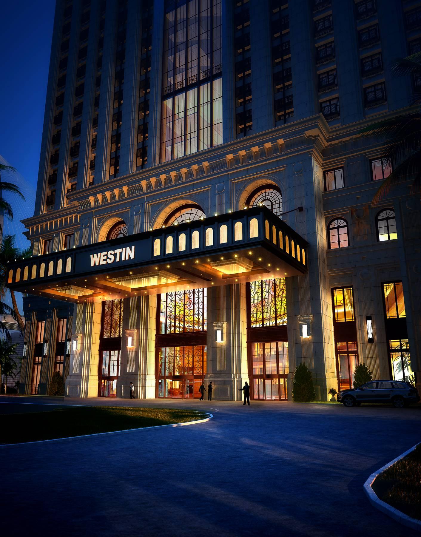 欧式高层酒店