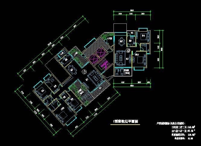 I型高层住宅平面图