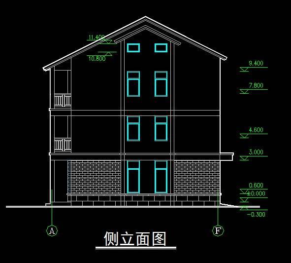 村民住宅新中式双拼别墅