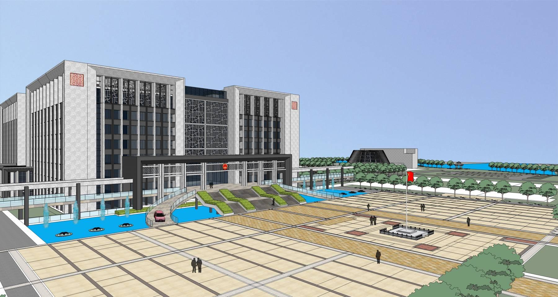绍兴现代风格行政中心